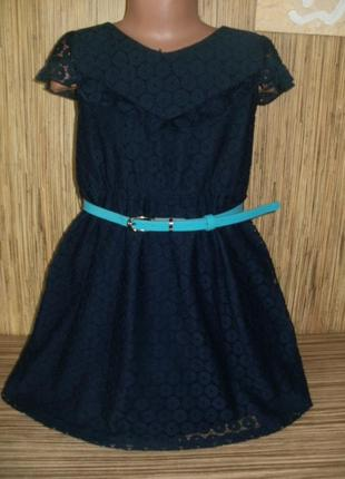 Платье кружево на 7-8 лет yuni girl