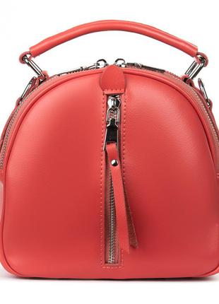 Женская кожаная сумкв рюкзак кожаный