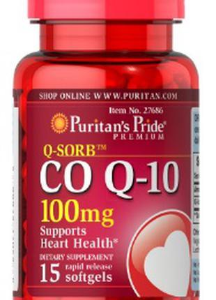 Puritan's Pride - СШАCo Q-10 100 mg 15 Softgels