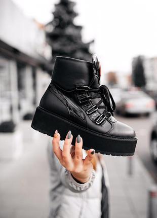 Крутейшие женские кожаные ботинки puma rihanna