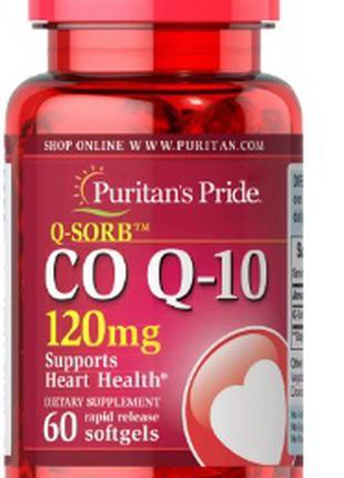 Puritan's Pride - СШАCo Q-10 120 mg (Q-SORB™) 60 Softgel