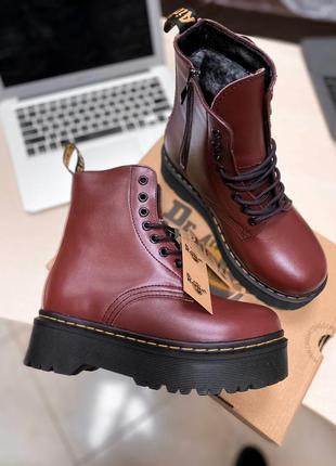 Шикарные ботинки на платформе с мехом