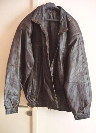 Большая кожаная мужская куртка - пилот. лот 614
