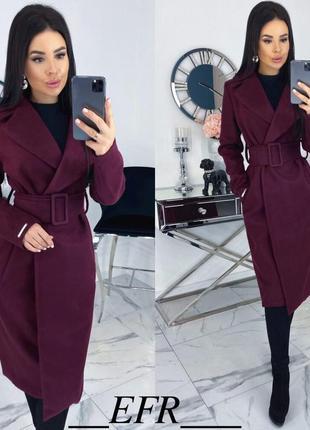 Шикарное женское кашемировое пальто