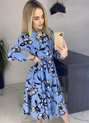 Шикарное платье ниже колен