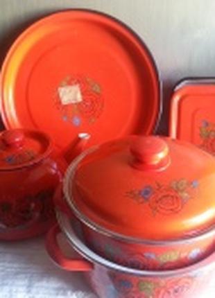 Набор посуды «Кармен»  эмаль