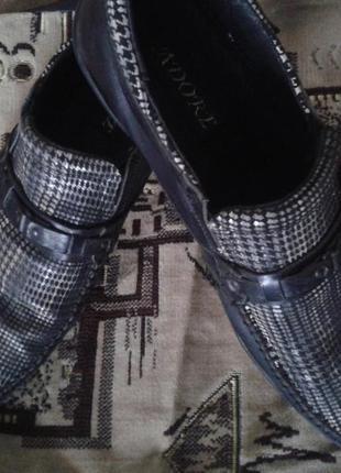 Туфли под крокодилью кожу, 40 размер