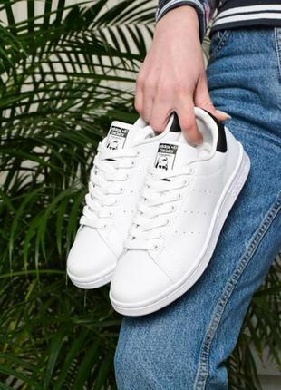 Кросівки adidas stan smith white black кроссовки