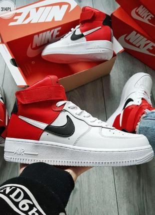 Черевики nike air force 1 hight nba red/white ботинки