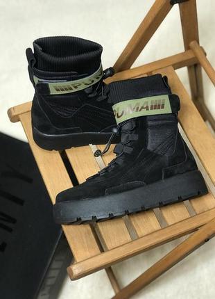 Черевики puma x fenty scuba boot black ботинки