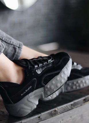 Кросівки acne studio black  кроссовки