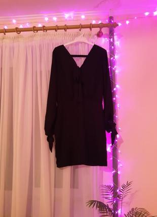 Платье сукня vila черное вечернее с вырезом нарядное короткое ...