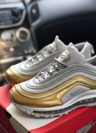 Кросівки nike air max 97 metallic gold кроссовки