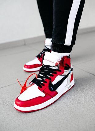 """Ботинки nike air jordan  1 """"off-white""""  черевики"""