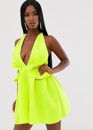 Идеальное неоновое платье тренд 2019 размер xs