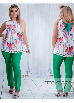 Нарядная блуза без рукавов 56 размер