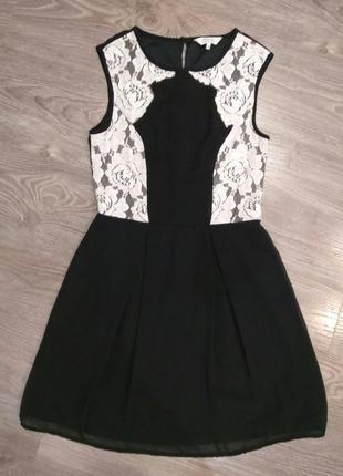 Платье шифоновое школьное, сарафан / школьная форма