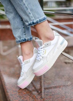 Кросівки кеди puma cali sport mix white - marshmallow кроссовк...