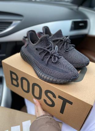 Рефлективные кроссовки adidas yeezy boost black reflective