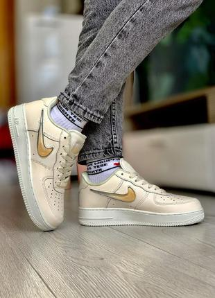 Кроссовки nike air force 1 gold кросівки