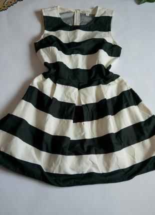 Платье 46 48 размер мини короткое нарядное в полоску коктейльн...