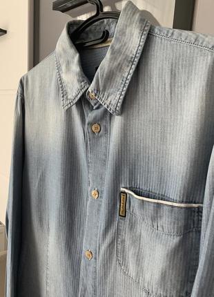 Мужская рубашка брендова armani jeans оригинал от armani