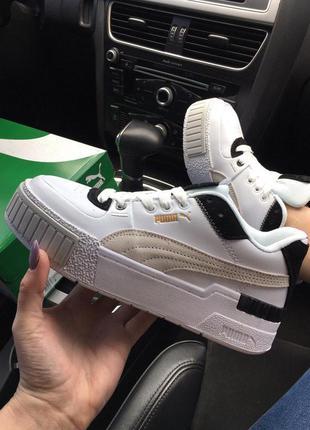 Pum@ cali sport mix white black, женские кроссовки