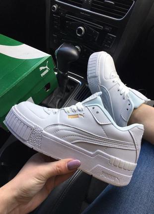 Pum@ sport mix full white, женские белые кроссовки