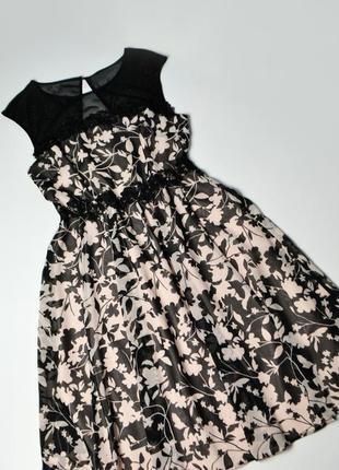 Платье с кружевом в цветы от monsoon