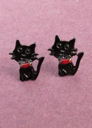 Серьги кошки коты, новые! арт. 3793
