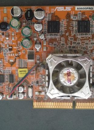 Рабочая видеокарта Ati Radeon Asus A9600PRO AGP 128Mb Включается,