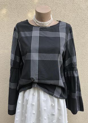 Блуза,рубаха в клетку,вискоза,этно бохо стиль,