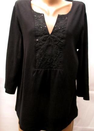 Debenhams, женская туника с вышивкой, размер 52-54, новая.