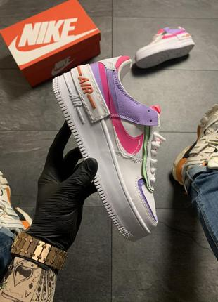 Nike air force shadow white violet pink
