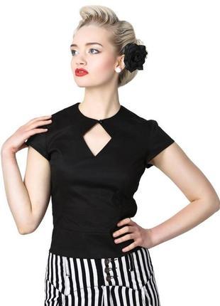 Collectif london. блуза с вырезом в области декольте. размер н...