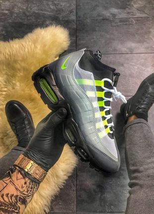 Nike air max 95 sneakerboot grау green