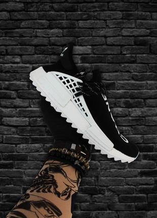 Adidas nmd human race black white