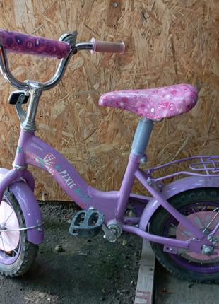 Детский велосипед для девчуль лет от 2 до 5 + колёсики