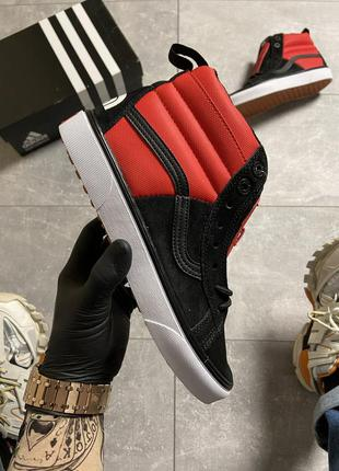 Vans sk8 red/black x the north face