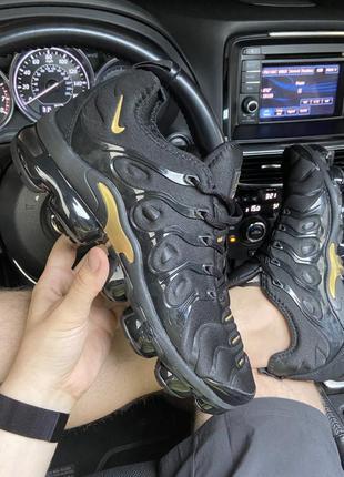 Nike vapormax tn plus black gold
