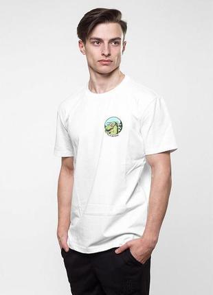 Футболка punch - dinosaur, white
