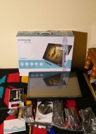 """Графический монитор планшет HUION GT-190 19"""" Wacom полный комп..."""