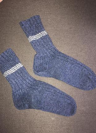 Вязаные носки теплые носки ручная вязка