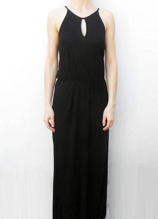 Летнее трикотажное длинное  платье в пол