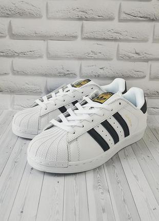 Sale мужские кроссовки adidas superstar white/black
