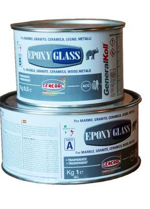 EPOXY GLASS епоксидний двокомпонентний прозорий густий/рідкий ...