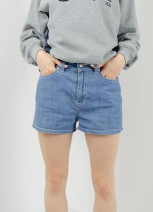 Supre прямые джинсовые шорты с завышенной талией, джинсові шор...