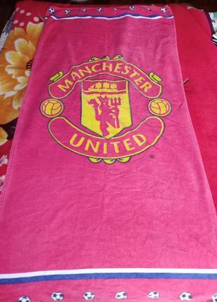 Полотенце с символикой fc manchester united