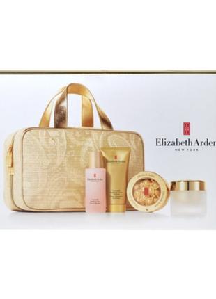 Золотая яркая косметичка, объемная, сумка для косметики, eliza...