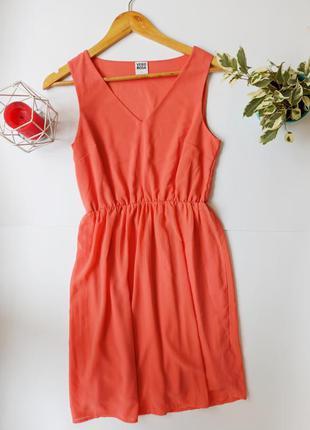 Легкий літній персиковий сарафан. летнее платье